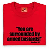 Official Gene Hunt T Shirt - You Are Surrounded, Mens