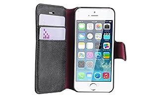 JAMMYLIZARD | Wildleder Tasche Hülle für iPhone 5 und 5S, SCHWARZ
