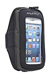 Fitletic Smart Phone Arm Band with Window, Black, Small/Medium
