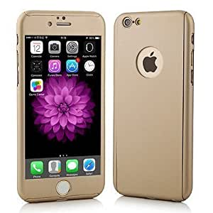 SDO™ 360 All-Round Protective Slim Fit Hybrid Body Case with Tempered Glass for Apple iPhone SE (Gold)
