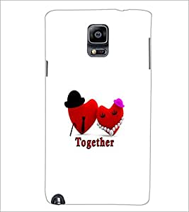 PrintDhaba Love Hearts D-1190 Back Case Cover for SAMSUNG GALAXY NOTE 3 (Multi-Coloured)