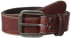BedStu Men's Meander Belt, Ox Blood Lux, 38