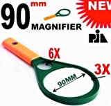 90MM MAGNIFYING GLASS 3X6X -PIA INTERNATIONAL