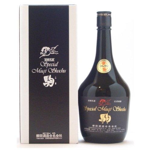 宮崎県 柳田酒造 大麦焼酎 駒(こま) 長期熟成 黒丸 25°720ml