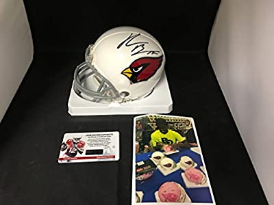 John Brown Signed Autographed Pitt State Arizona Cardinals Mini Helmet Witnessed COA & Hologram W/Photo From Signing
