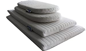 NightyniteTM Luxury Quilted Ambassador Anti-allergenic Microfibre Crib Mattress 89 x 38 x 4 CM Square corners