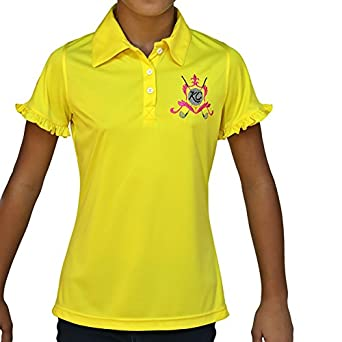 Kissi couture little girls golf polo shirt for Yellow golf polo shirts