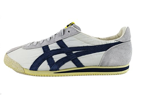 ONITSUKA TIGER sneakers uomo 45 EU grigio blu tessuto camoscio AH836