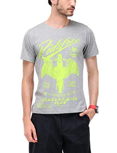 Yepme Men's Graphic Cotton T-shirt - B00O33CVTI