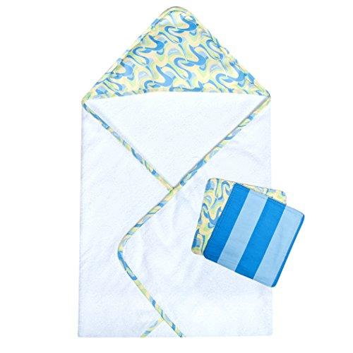 Trend Lab Dr. Seuss Oh, The Places You'll Go! Blue 3 Piece Bath Bundle Box Set, Blue