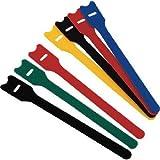 【4本入り 写真は代表画像です】TRUSCO マジックバンド ストラップ アソート 20cm 青・赤・黒・黄MKS2520S