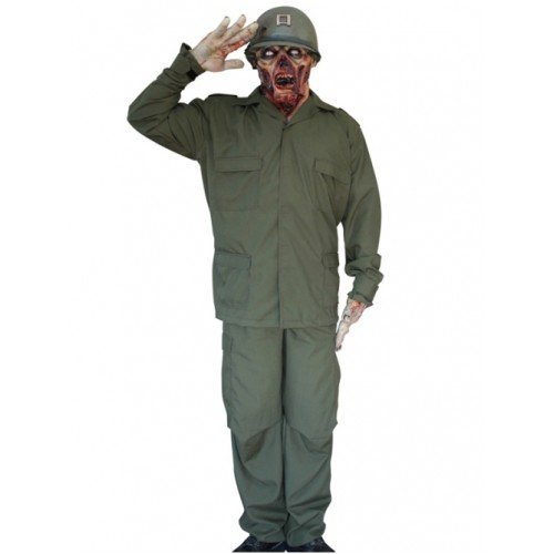 [Mask & Costume Zombie Soldier by CC] (Zombie Soldier Costumes)