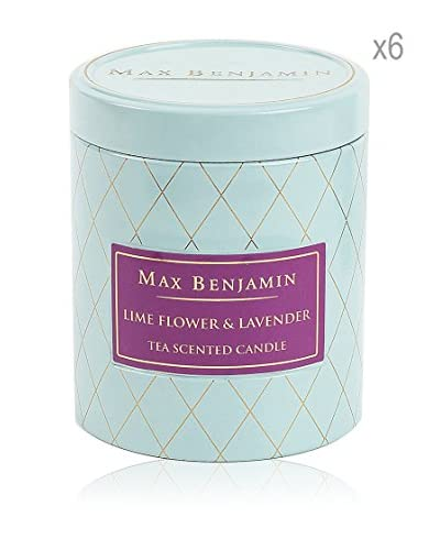 Max Benjamin Set x 6 Velas Lime Flower & Lavender Tea