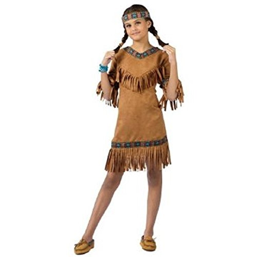 Child's Native American Indian Girl Costume Size Large (12-14) (Sacagawea Costumes For Kids)