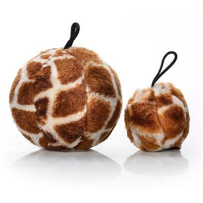 Skins Ball Giraffe Dog Toy Size: Medium