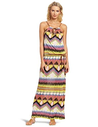 D.E.P.T. Women's Eclectic Jersey Maxi Dress, Celadon Green, X-Small