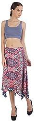 ViaKupia Women's Regular Fit Skirt (07309_M, Coral, Medium)
