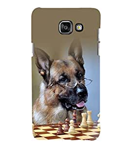 printtech Nerd Dog Chess Back Case Cover for Samsung Galaxy A5 (2016)