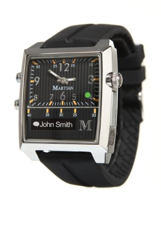 Martian Watches Passport Smartwatch (Black/Silver/Black)