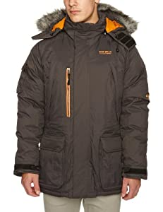 Bear Grylls Mens Polar Jacket, Black Pepper, X-Large by Bear Grylls