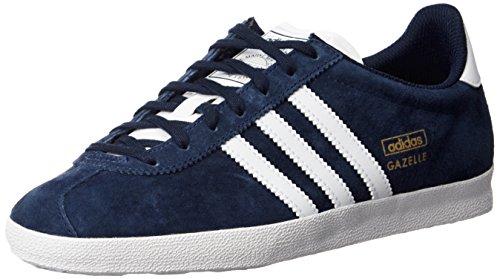Adidas Gazelle OG Sneakers, Unisex Adulto, Blu (Indfon/Blanc/Ormét), 43 1/3