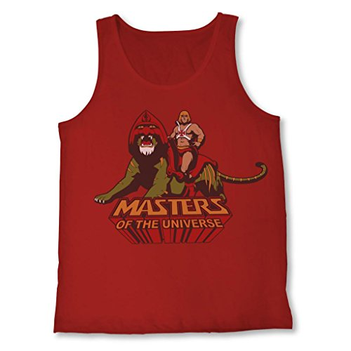 Official Men's He-Man Ride Into Battle Mens Red Tank - S to XXXL