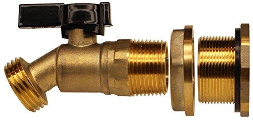 RAINPAL RBS022LF Rain Barrel DIY Spigot (Brass Ball Valve and Bulkhead Fitting, Lead Free Compliant) (Rain Barrel Spigot compare prices)