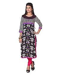 Namah Women's Cotton Regular Fit Kurti (D89-XL , Multi-Colour, XL)