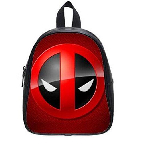 LilyFavor Deadpool Logo Printing Zaino Custom School Borsa(Large)Black