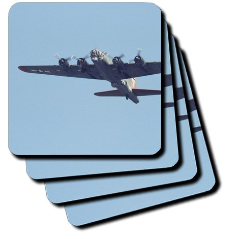 cst_97120_1 Danita Delimont - War Planes - B-17 G Flying Fortress, War plane - US50 BFR0041 - Bernard Friel - Coasters - set of 4 Coasters - Soft