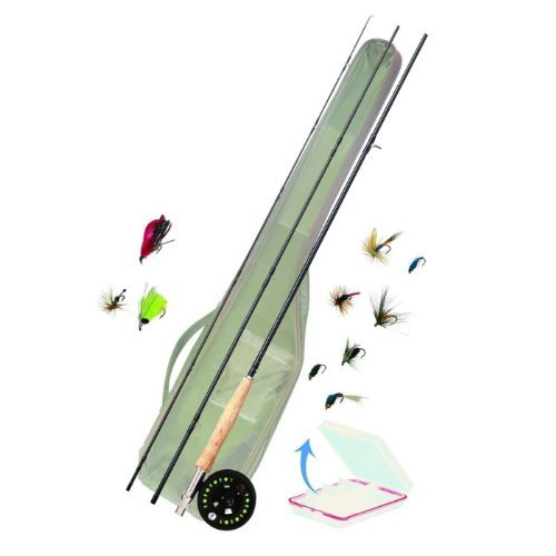 Angelset Fly Combo Fliegenrute Fliegenrolle Fliegenschnur