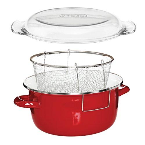 Premier-Housewares-Frittiertopf-Pyrex-Deckel-16-x-33-x-27-cm-5-l-rot