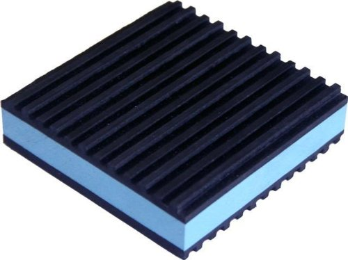 "24 Pack Of Anti Vibration Pads 4"" X 4"" X 7/8"" All Purpose Super Duty Blue Composite Foam Vibration Isolation Pads"