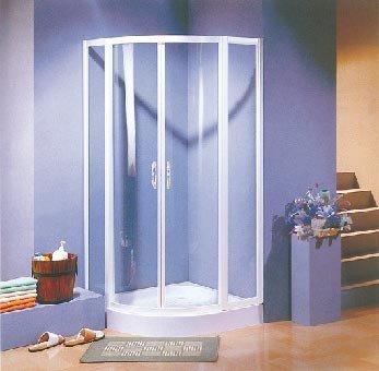 Duschkabine mattglas