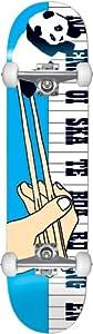 Enjoi Chopsticks Complete Skateboard, Blue, 7.6-Inch