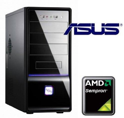 Tronics24 EinsteigerPC AMD AM3 Sempron 145 mit 2.8 GHz, 2 GB DDR3, Asus mit AMD HD3000, 250 GB SATA, DVD-Brenner, Cardreader, Sound, GigabitLan, Office PC