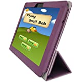 iShoppingdeals - for ASUS Transformer Pad Infinity TF700T Tablet Folding Folio Skin Cover Case, Plum Purple