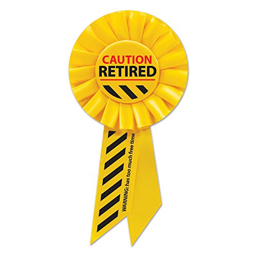 Beistle Caution Retired Rosette, Multicolored