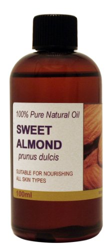 100ml Sweet Almond Oil - 100% Pure Cold Pressed