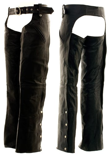Solid Leather Motorcycle Chaps by Hawg Hides