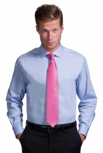 Mens Classic Long Sleeve Easy Care Formal Shirts Sizes 14.5 to 19.5 / S to 3XL (S - 14.5