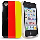 "Slabo Silikon Schutzh�lle H�lle Case f�r Apple iPhone 4s | iPhone 4 - ""Deutschland Fan Artikel 