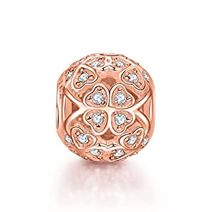 NinaQueen® *Clover* 925 Sterling Silver Openwork Charms Fit Pandora Bracelet (NinaQueen fine jewelry is designed in Paris in limited edition collections.NinaQueen patents its designs in 64 countries around the world. Enjoy the beauty,luxury, and quality of NinaQueen)