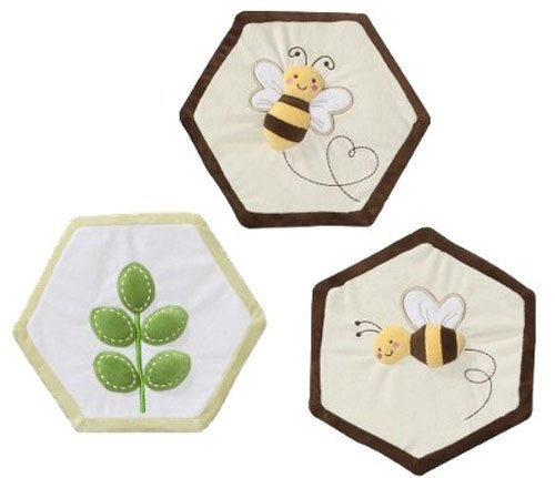 Tiddliwinks Bee Meadow 3 Piece Nursery Wall Hanging