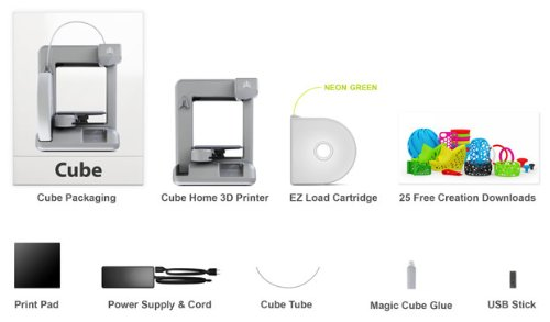 Cubify Cube 3d Printer Silver (2nd Generation) Latest One