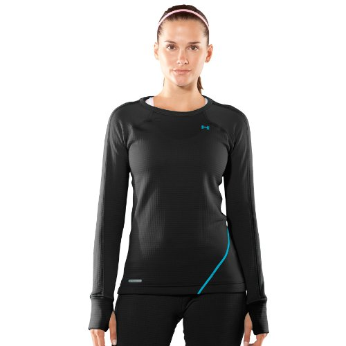 b8301bd39c9797 Women s UA Base 3 0 Longsleeve Crew Tops by Under Armour Small Black ...