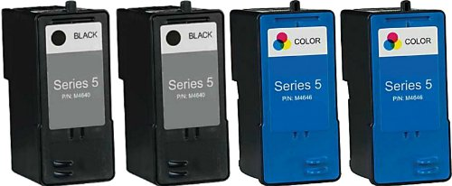 HouseOfToners 4 PK Dell Series 5 Ink Cartridge Remanufacture