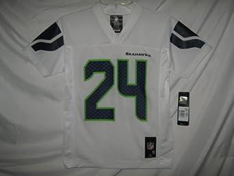Marshawn Lynch Seattle Seahawks White NFL Youth 2013-14 Season Mid-tier Jersey by OuterStuff