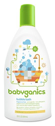 Babyganics Baby Bubble Bath, Fragrance Free, 20oz Bottle, (Pack of 2) image