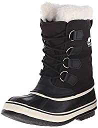 Sorel Women\'s Winter Carnival Boot,Black/Stone,5 M US